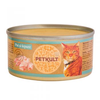 Petkult Cat Grain Free Pui si Iepure 80 g