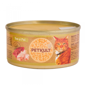 Petkult Cat Grain Free Ton si Pui 80 g imagine