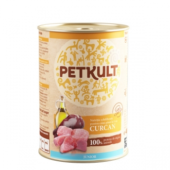 Petkult Junior Curcan 400 g imagine