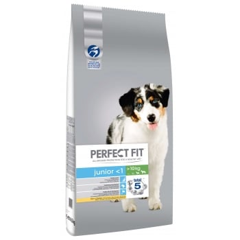 Perfect Fit Dog Junior Medium/Large cu Pui, 14.5 kg