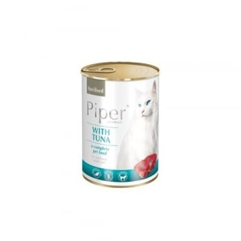 Piper Cat Adult Sterilizat cu Ton, 400 g
