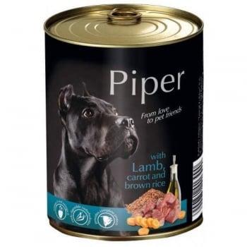 Piper Adult cu Carne de Miel, Morcovi si Orez Brun, 400 g