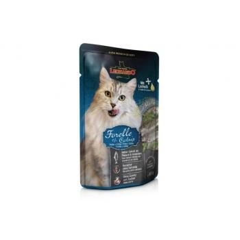 Leonardo Plic Cu Pastrav Si Iarba Pisicii, 85 g