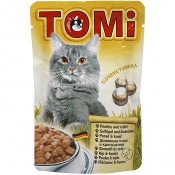 Plic Tomi Cat cu Pui si Iepure, 100 g