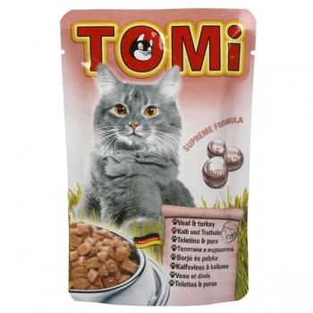 Plic Tomi Vitel si Curcan, 100 g