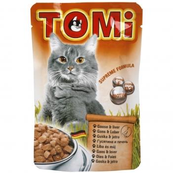 Plic Tomi Cat cu Gasca si Ficat, 100 g