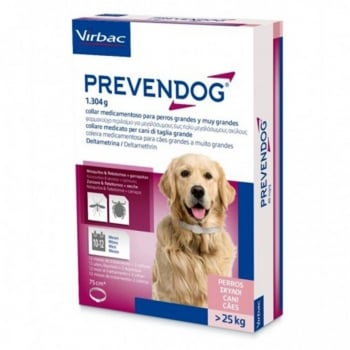 PREVENDOG, zgardă antiparazitară, câini, 75cm, 2 bucati