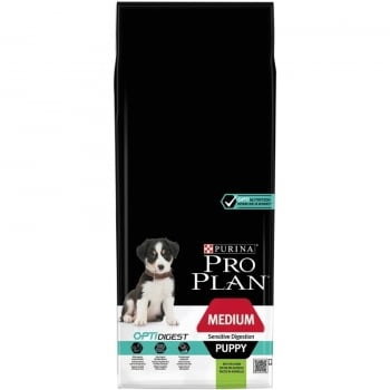 Pro Plan Puppy Medium Sensitive cu Miel, 12 kg