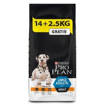 Pro Plan Adult Large Breed Athletic cu Pui 14 kg + 2.5 kg Gratis