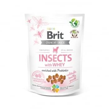 BRIT Care Crunchy Cracker, Insecte și Zer cu Probiotice, recompense fără cereale câini junior, 200g