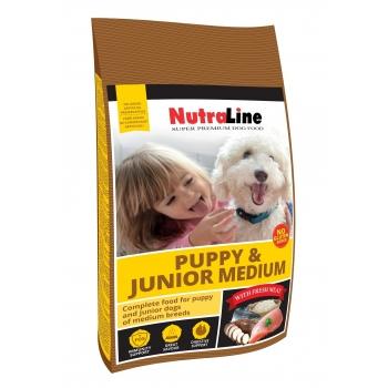 Nutraline Dog Puppy&Junior Medium, 3 kg imagine