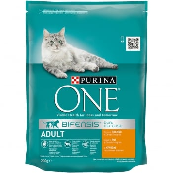 Purina ONE Adult Cat cu Pui si Cereale, 200 g