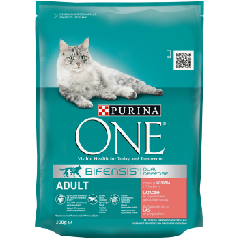 Purina ONE Adult Cat cu Somon si Cereale, 200 g