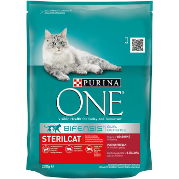 Purina ONE Steril Cat cu Vita si Grau, 200 g