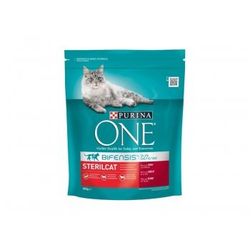 Purina ONE pentru pisici sterile, cu vita si grau, 800 g