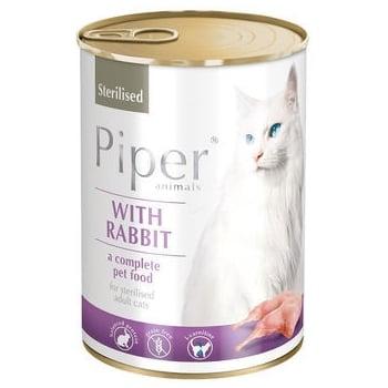 Piper Cat Adult Sterilizat cu Iepure, 400 g