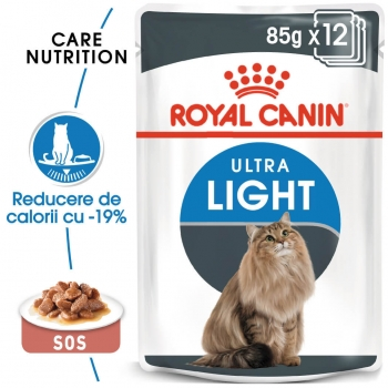 Pachet Royal Canin Ultra Light, 12 x 85 g