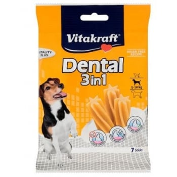 RECOMPENSE VITAKRAFT DENTAL SNACK 3IN1 SMALL, 120 G