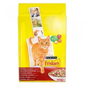 Friskies Cat Adult Carne de Vita, Pui si Legume, 10 Kg imagine