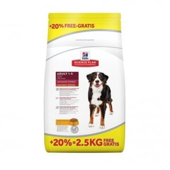 Hill's SP Canine Adult Advanced Fitness Large Breed cu Pui 12 kg + 2.5 kg GRATIS