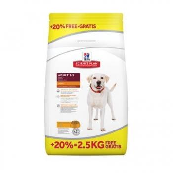 Hill's SP Canine Adult Large Breed Light 12 kg + 2.5 kg GRATIS