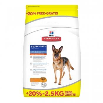Hill's SP Canine Large Breed Mature Adult cu Pui 12 kg + 2.5 kg GRATIS