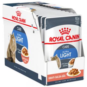 Royal Canin Light Weight Care Adult, bax hrană umedă pisici, managementul greutății, (în sos), 85g x 12