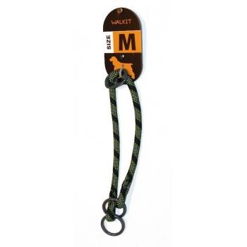 Zgarda Caine Walkit Rotund Rope M, 0.8 x 35-40 cm, Negru/Verde