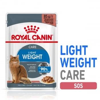 Royal Canin Light Weight Care Adult, plic hrană umedă pisici, managementul greutății, (în sos), 85g
