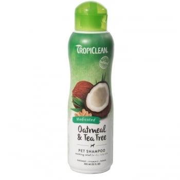 Sampon TropiClean cu Ovaz si Arbore de Ceai, 355 ml