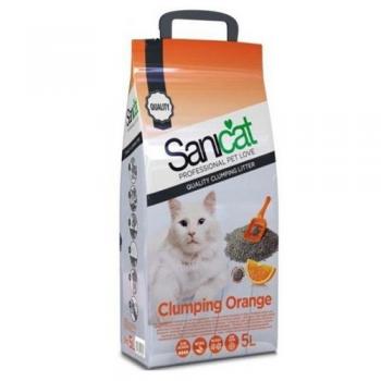 Pachet 4 x Nisip Sanicat Clumping Orange, 5 L