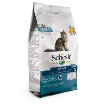 Schesir Cat Adult Hairball, cu Pui 1,5 kg