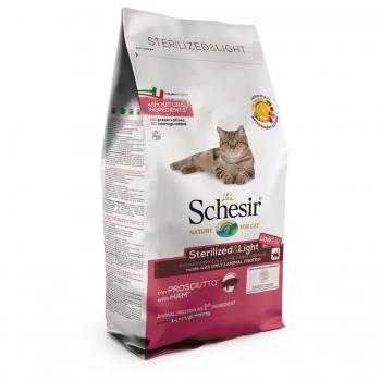 Schesir Cat Adult Light si Sterilizate cu Sunca, 1,5 kg