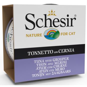 Schesir Cat Sea Specialities Conserva Ton si Peste Grouper, 85 g imagine