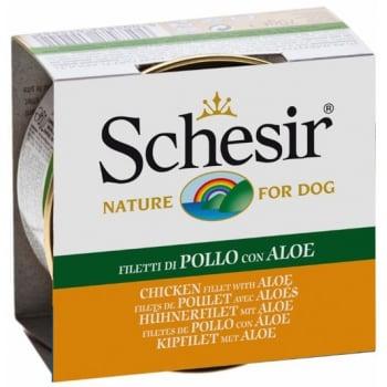 Schesir Dog Adult Pui si Aloe, 150 g imagine
