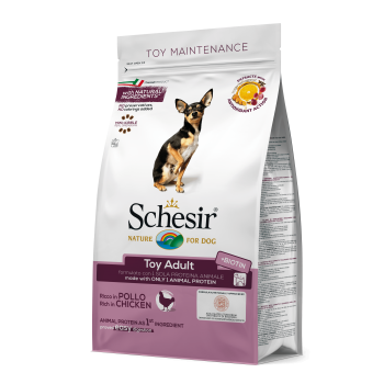 Schesir Dog Adult Toy cu Pui, 800 g expira 11.01.2021 imagine