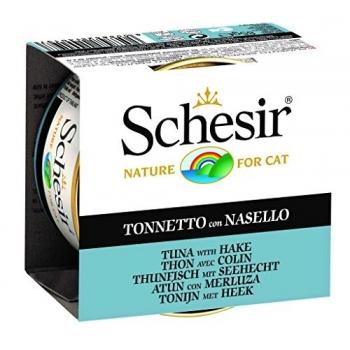 Schesir Cat Conserva Ton si Merluciu 85 g