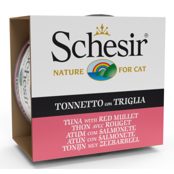 Schesir Cat Sea Specialities Conserva Ton si Red Mullet, 85 g