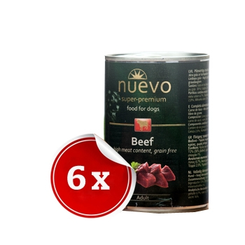 Pachet Nuevo Adult Grain Free cu Vita 6 x 800 g