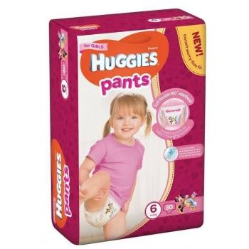 Scutece Chilotel Huggies Jumbo Pack 6, Girl, 15-25 Kg, 30 buc