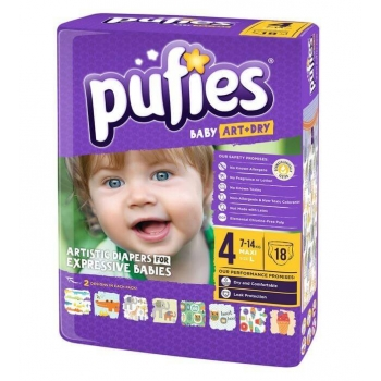 Scutece Pufies Baby Art Maxi Smal Pack 4, 7-14 Kg, 18 buc