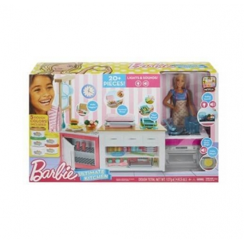 Set Barbie Doll and The Ultimate Kitchen Playset