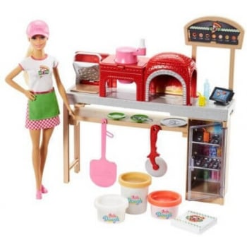 Set Barbie Pizza Chef Doll And Playset