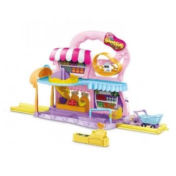 Set de Joaca Zuru Hamsters cu Supermarket, Sine si Accesorii