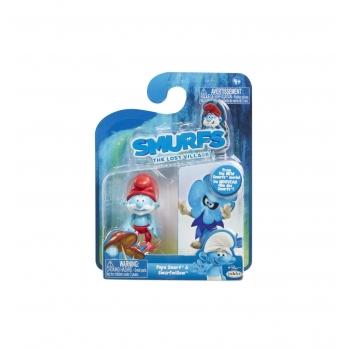 Set figurine in Blister, STRUMFI,  Papa Smurf si Smurfwillow, 5.71 cm, 2 bucati