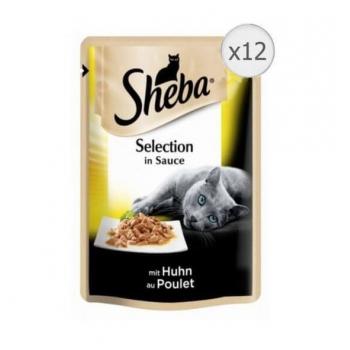Sheba Plic cu Pui in Sos, 12 x 85 g