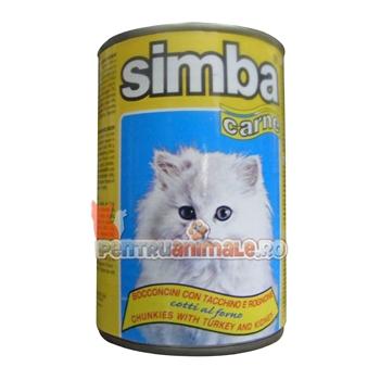 Simba Cat cu Curcan in Gelatina 415 g