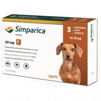 Simparica 20 mg, 5-10 kg, 3 comprimate