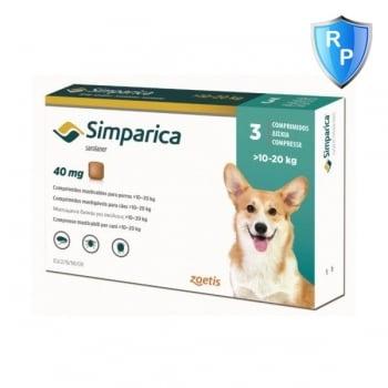 Simparica 40 mg, 10-20 kg, 3 comprimate imagine