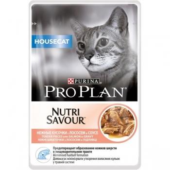 Pro Plan Housecat Nutrisavour, Somon in Sos, 85 g